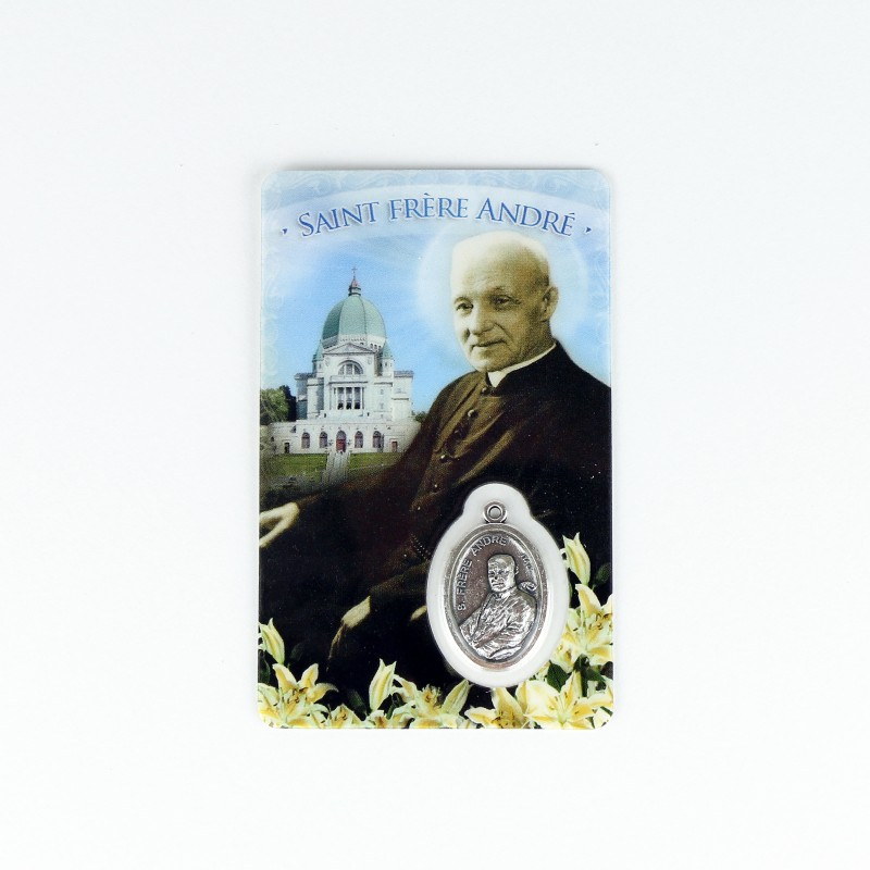 Carte médaille de saint frère André et l'Oratoire
