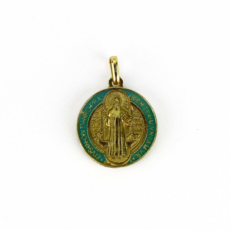 Médaille de saint Benoît dorée