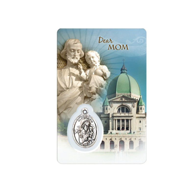 """Prayer card with the Oratory and Saint Joseph - """"Family"""""""