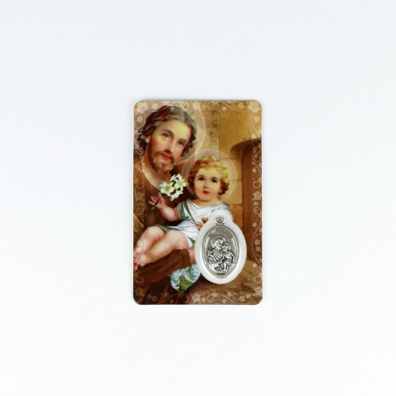 Carte médaille de saint Joseph