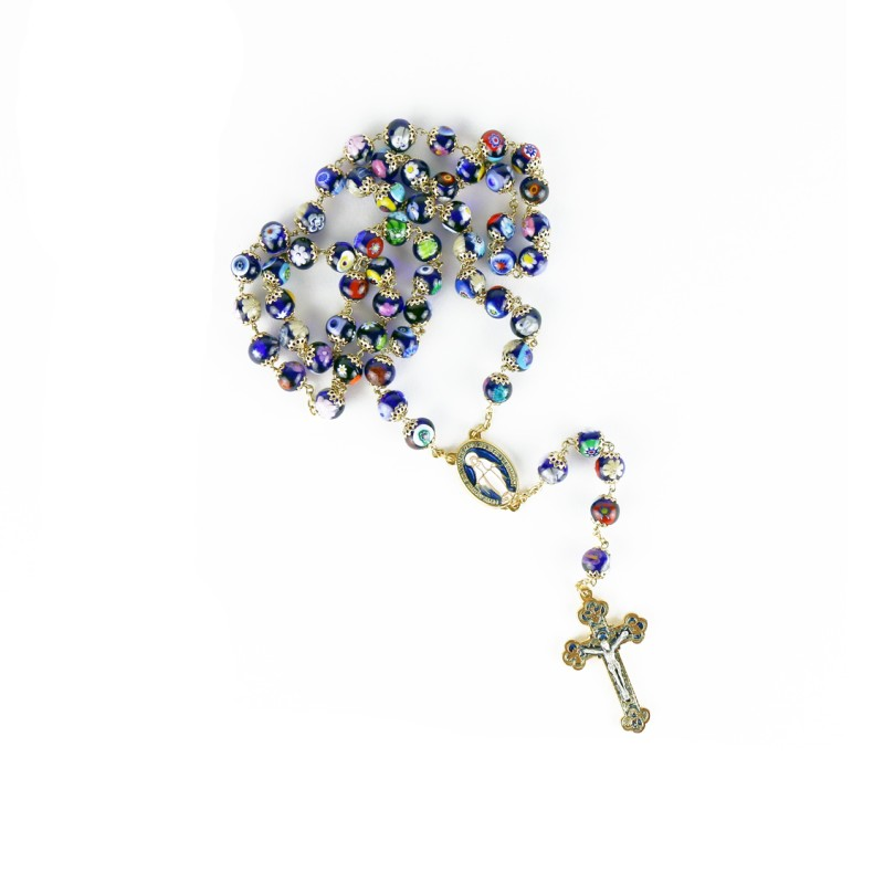 Murano glass rosary