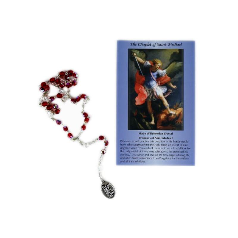 Chapelet de saint Michel avec carte de prière
