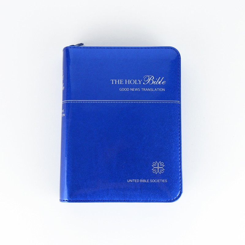 Good News Translation Bible with colour illustrations - Blue cover