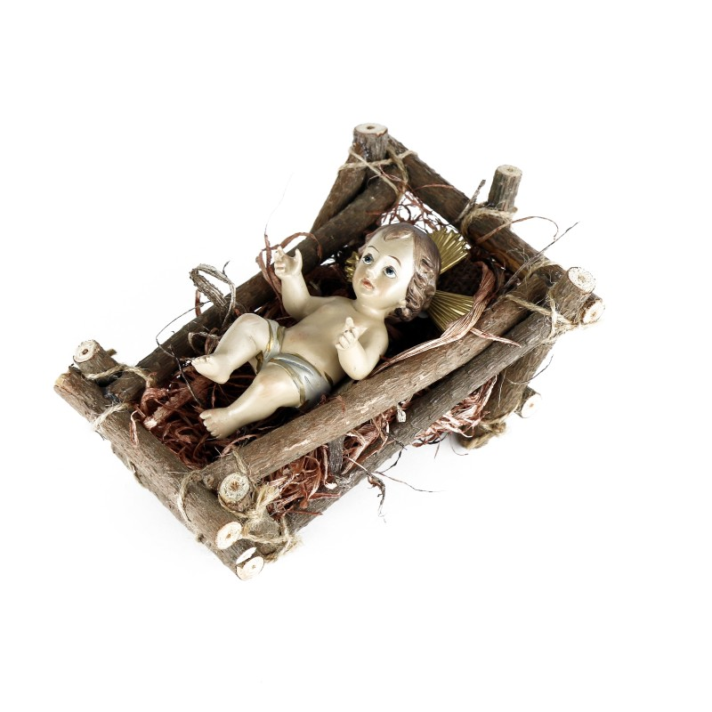 Child Jesus in his cradle - 12,5 cm