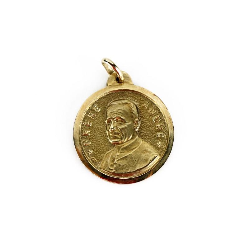 Médaille de saint frère André et saint Joseph, or 10K