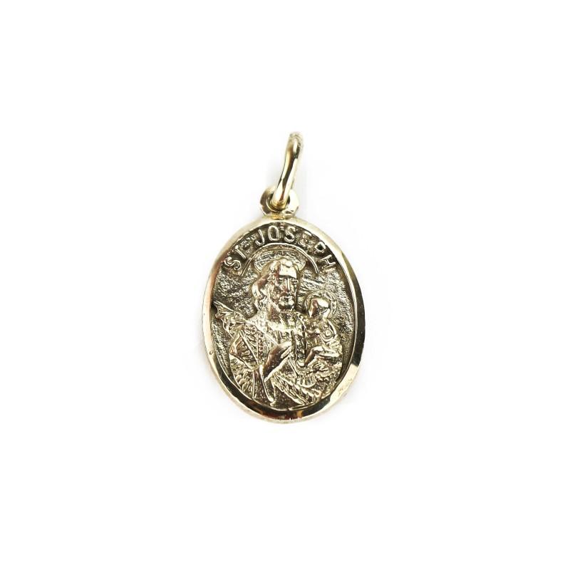 Oval Gold Medal of Saint Joseph, 10K