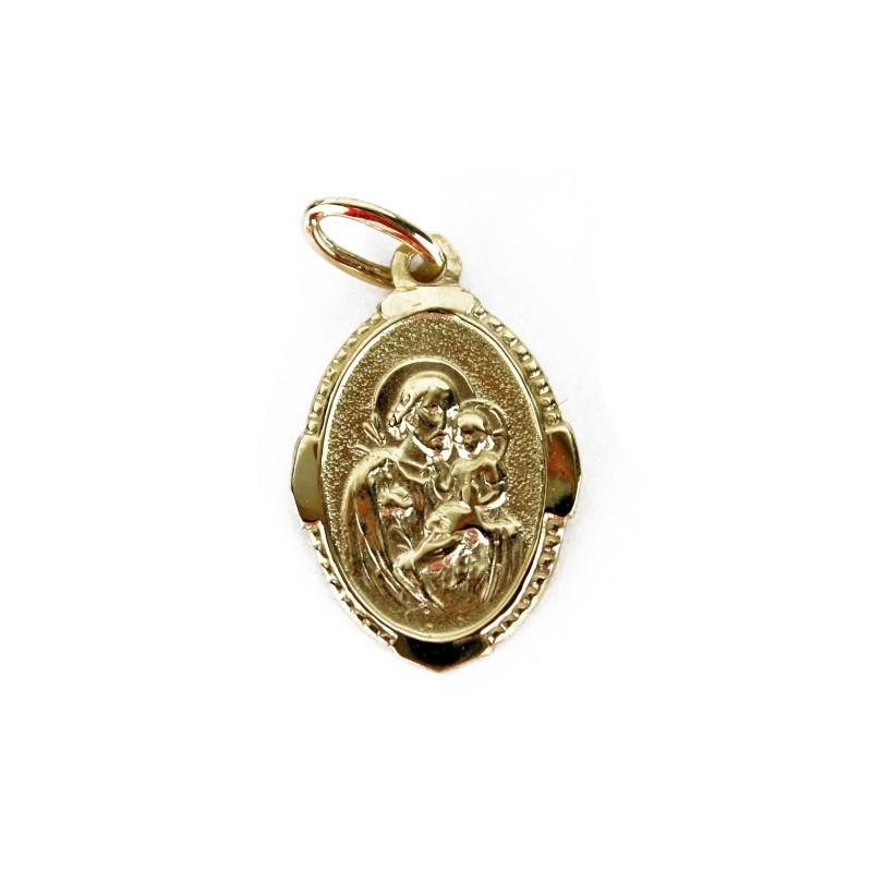 Médaille de saint Joseph en or 10K