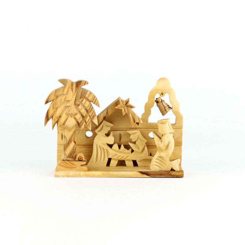 Small Nativity Scene in olive wood