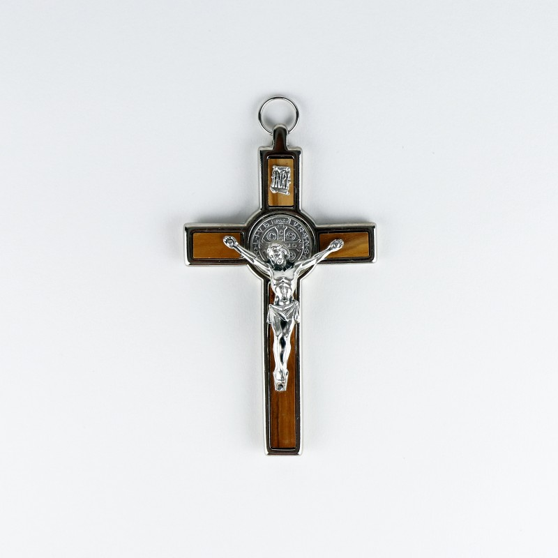 St. Benedict wooden and metal crucifix