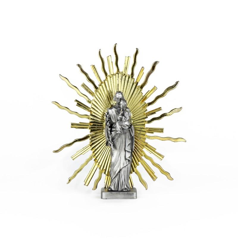 Statue de saint Joseph avec rayons, 17 cm