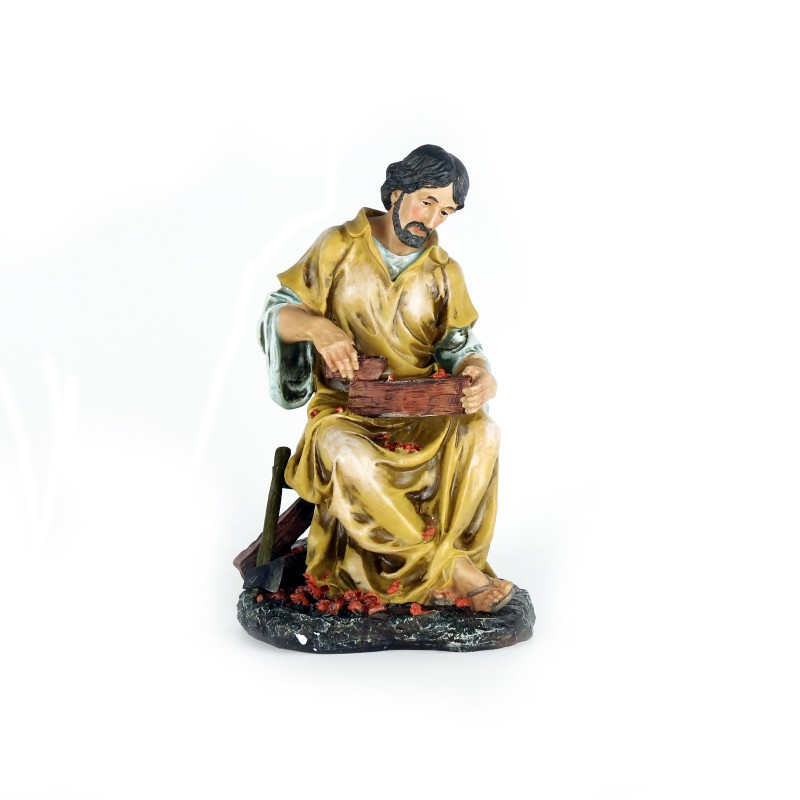 Saint Joseph working wood - Statue