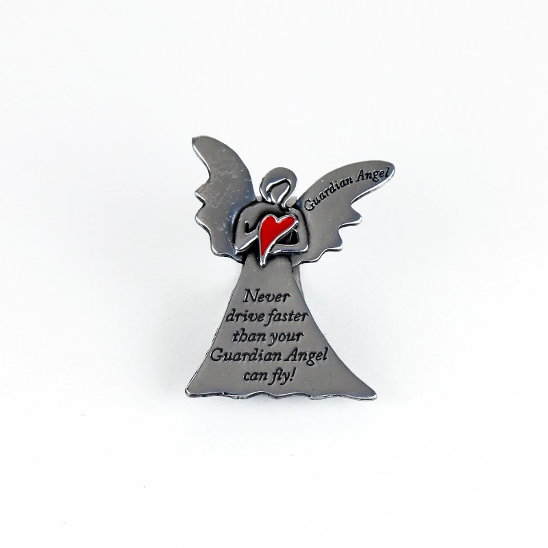 Visor clip Red heart Guardian Angel