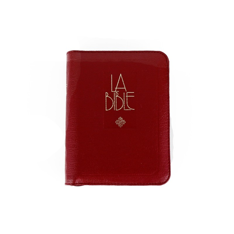 Bible in French, Burgundy cover with zipper