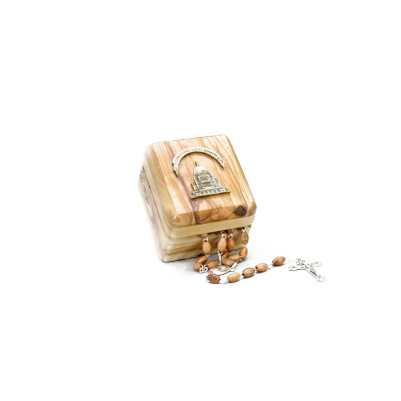Rosary and Storage Box in Olive Wood.