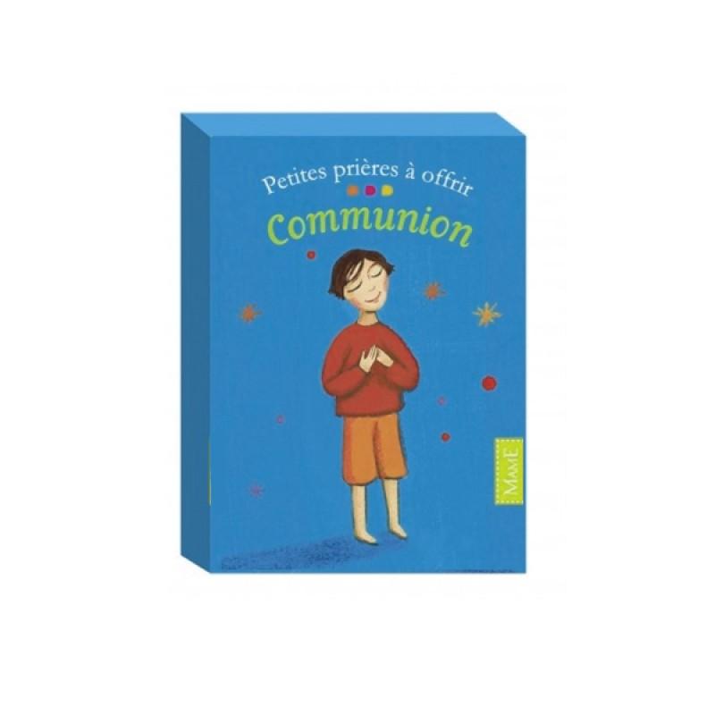 Cartes Communion : Petites prières à offrir