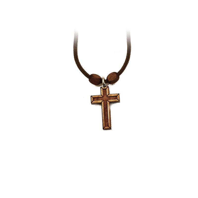 Pendentif croix en bois