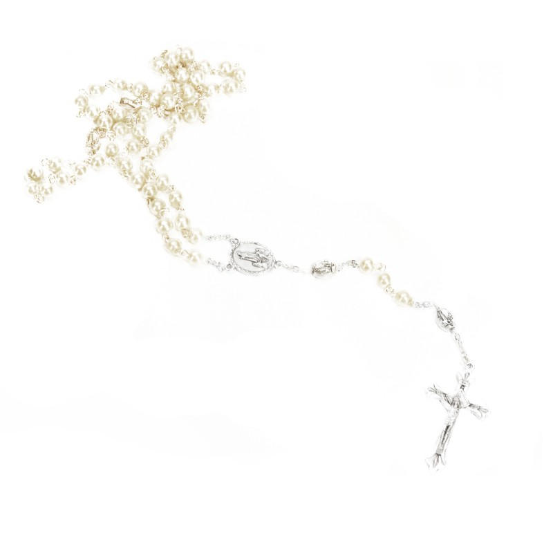 Pearl finish Rosary - Our Lady of Fatima