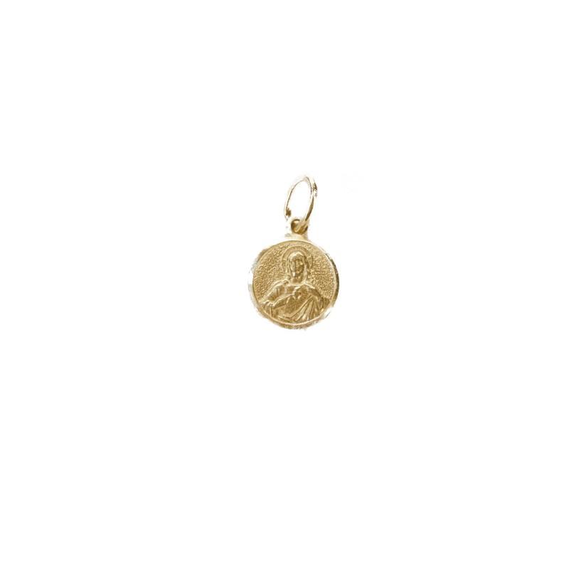 Médaille scapulaire en or 10 k (14 mm)
