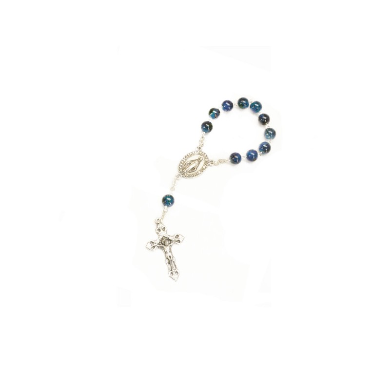 Miraculous Medal Rosary : Blue