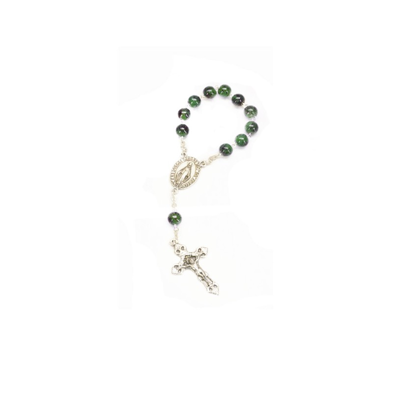 Miraculous Medal Rosary : Green