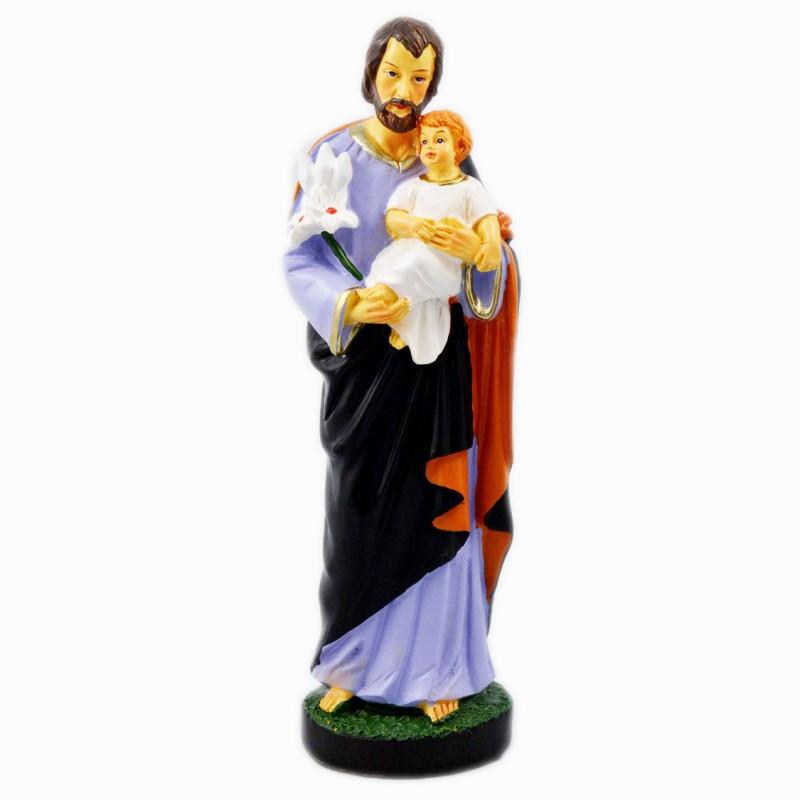 Statue de saint Joseph en résine