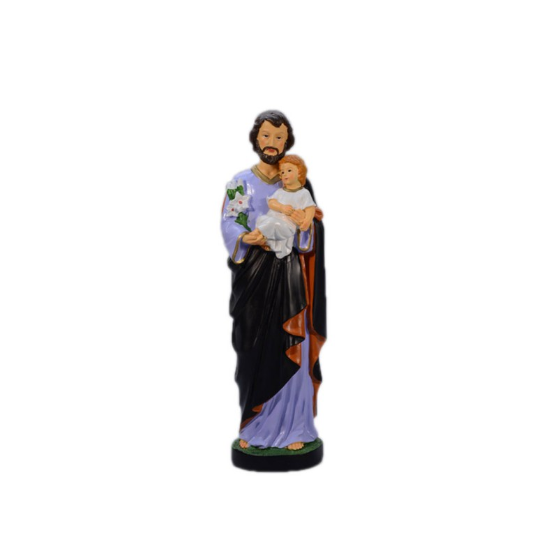 Resin Statue of Saint Joseph and Infant Christ