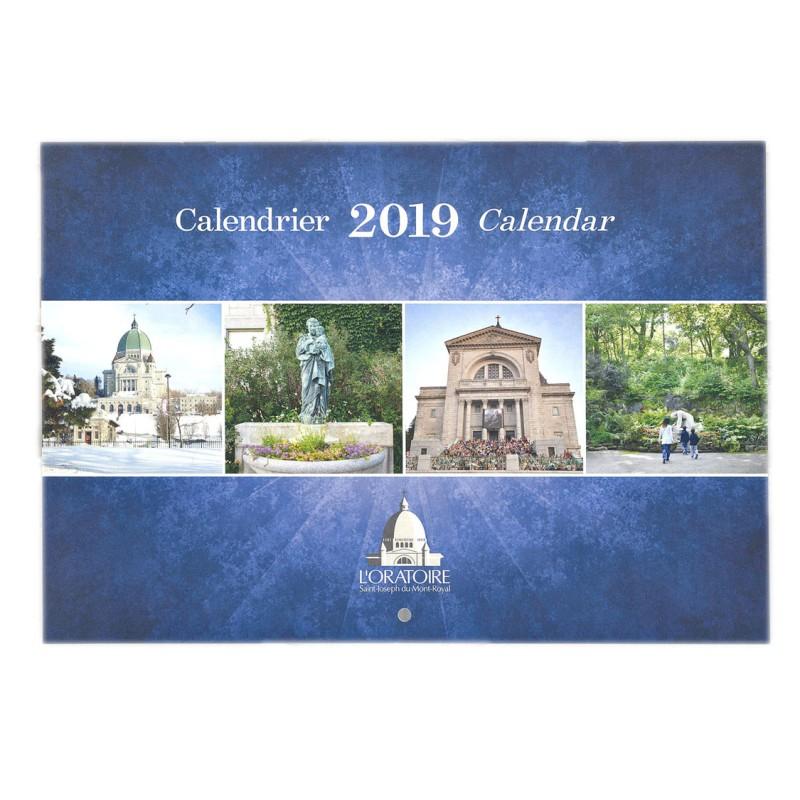 Calendrier 2019 de l'Oratoire