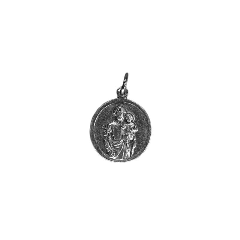 Medal of Saint Joseph pewter