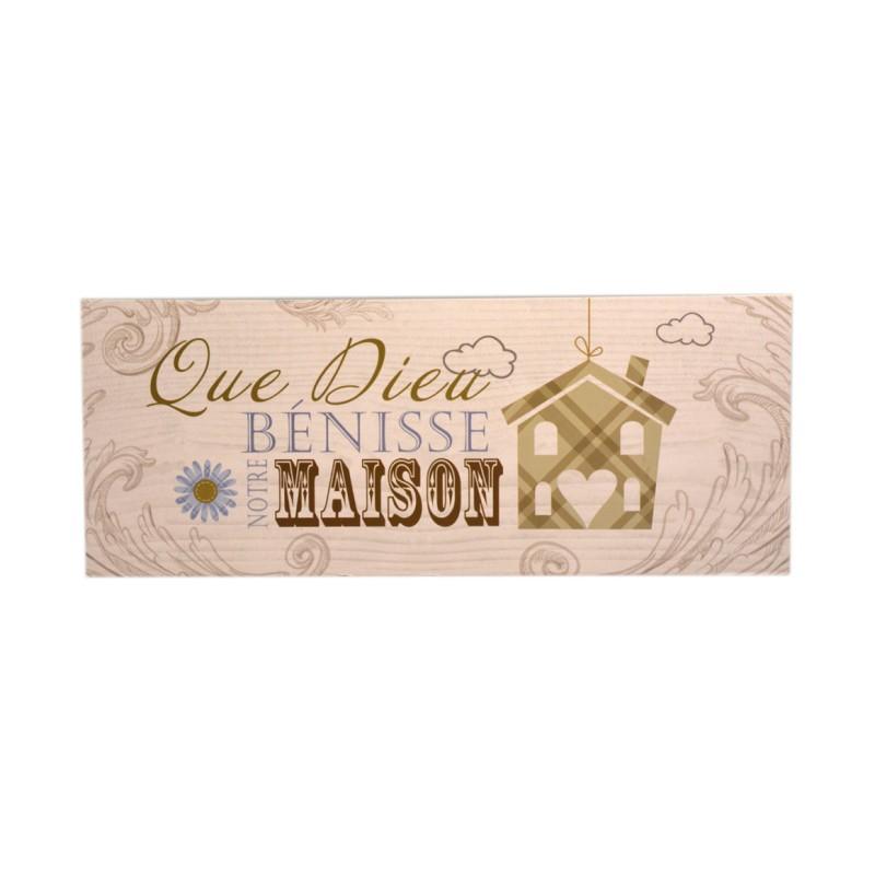 Plaque ''Que Dieu bénisse notre maison''