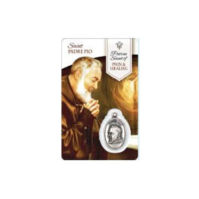 Carte médaille saint Padre Pio