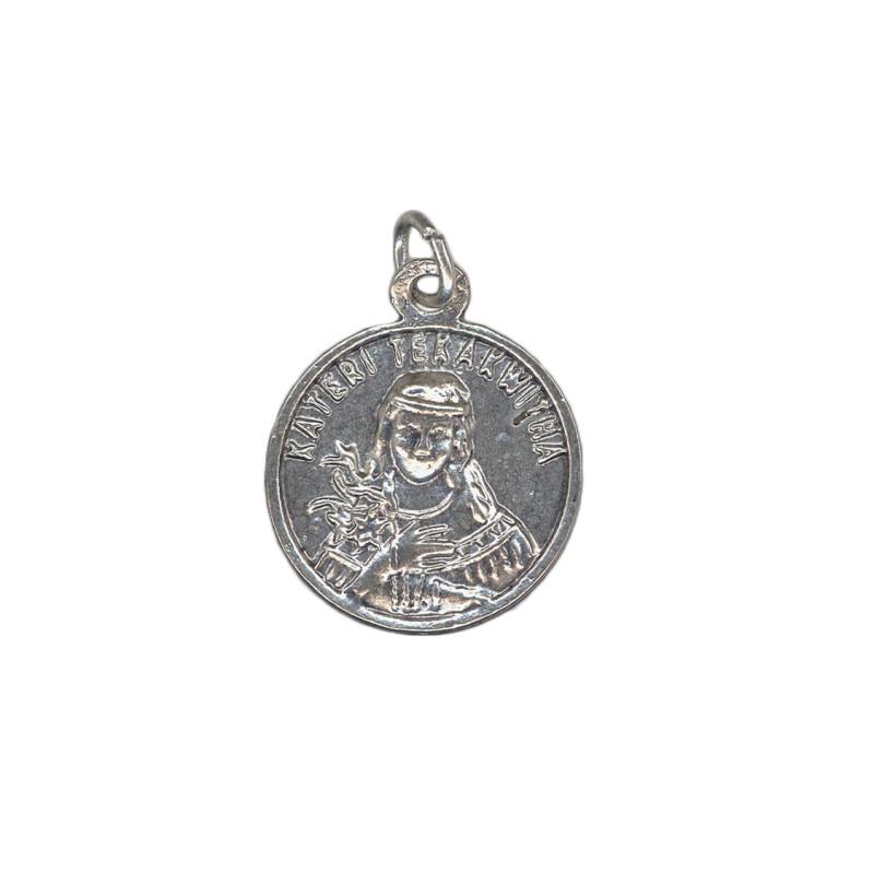 Relic medal Saint Kateri Tekakwitha