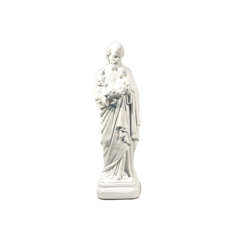 Statue de saint Joseph plâtre blanc