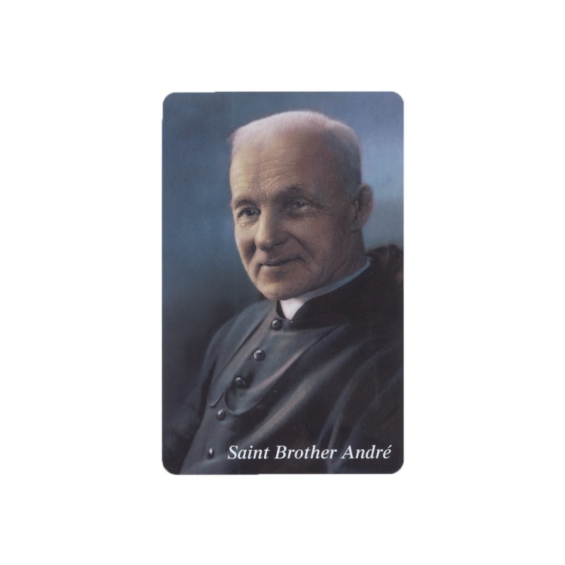 Saint Brother André prayer card