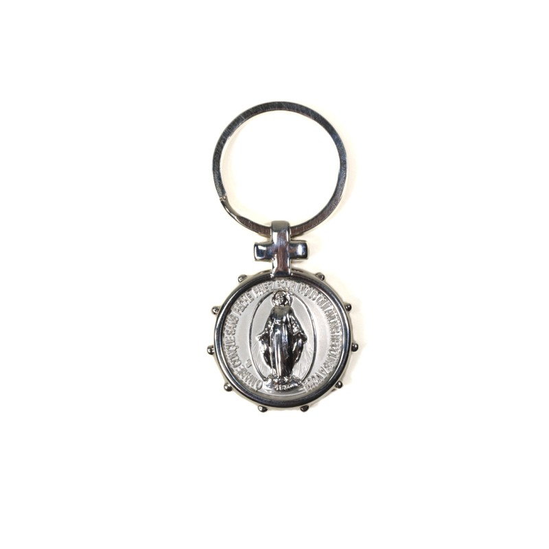 Miraculous medal keychain