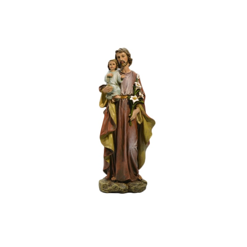 Saint Joseph and Infant Christ statue 25cm