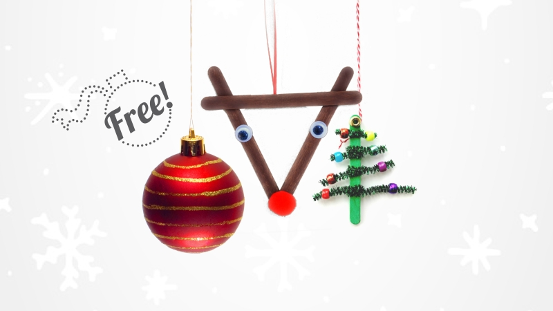 Christmas balls and ornaments decoration Workshop