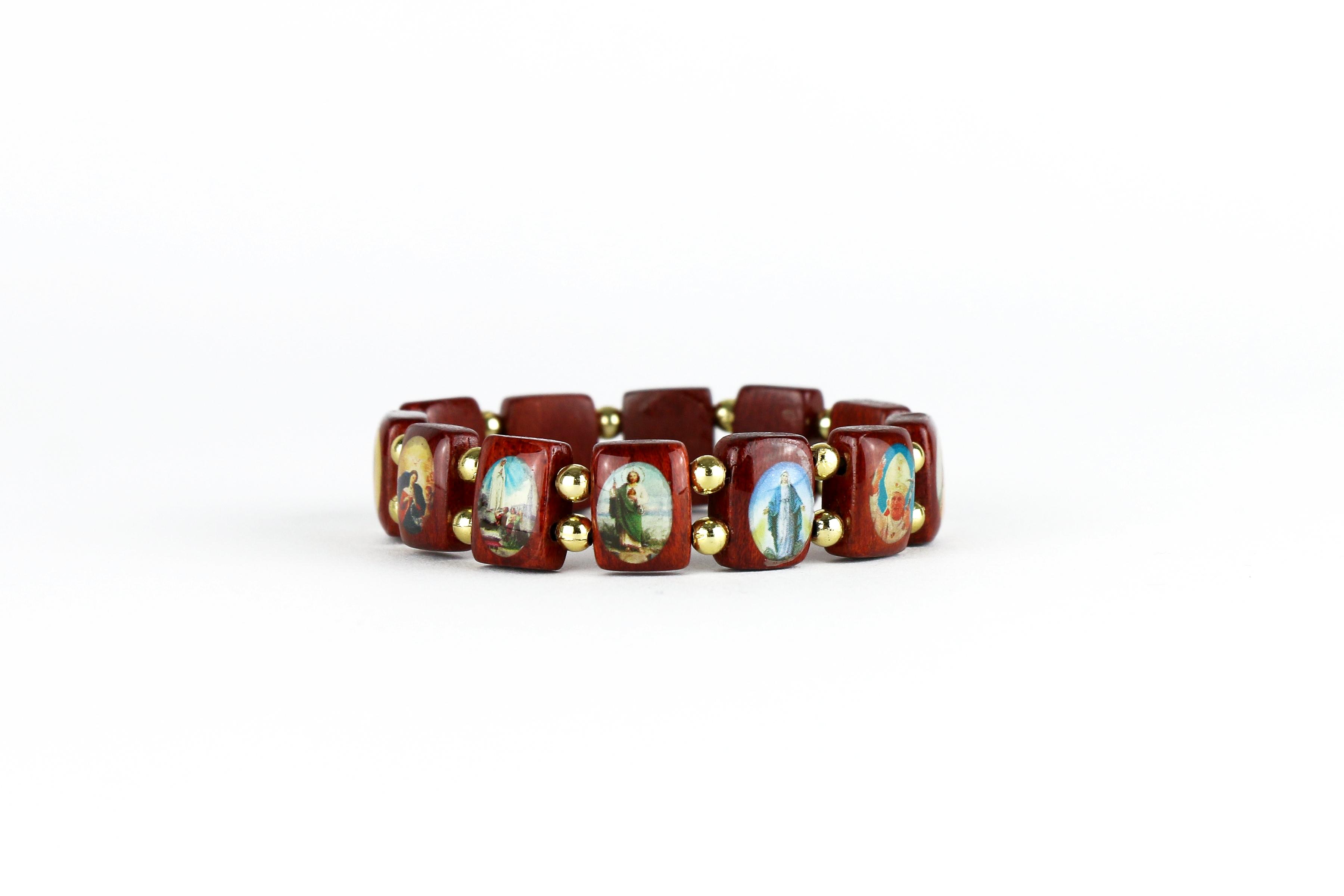 Bracelet des saints en bois / Wooden bracelet of the saints
