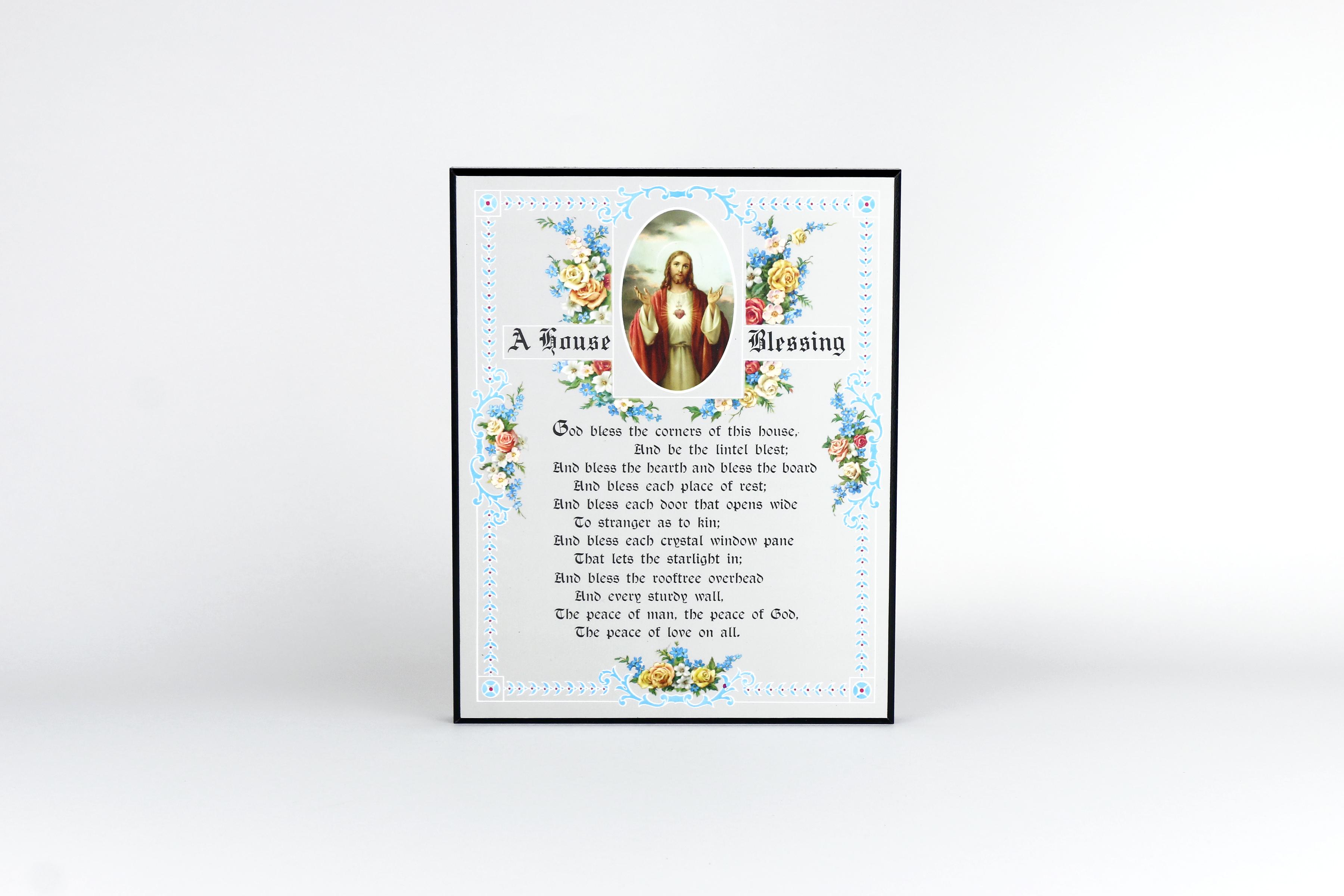 house blessing plaque laminated l oratoire saint joseph du