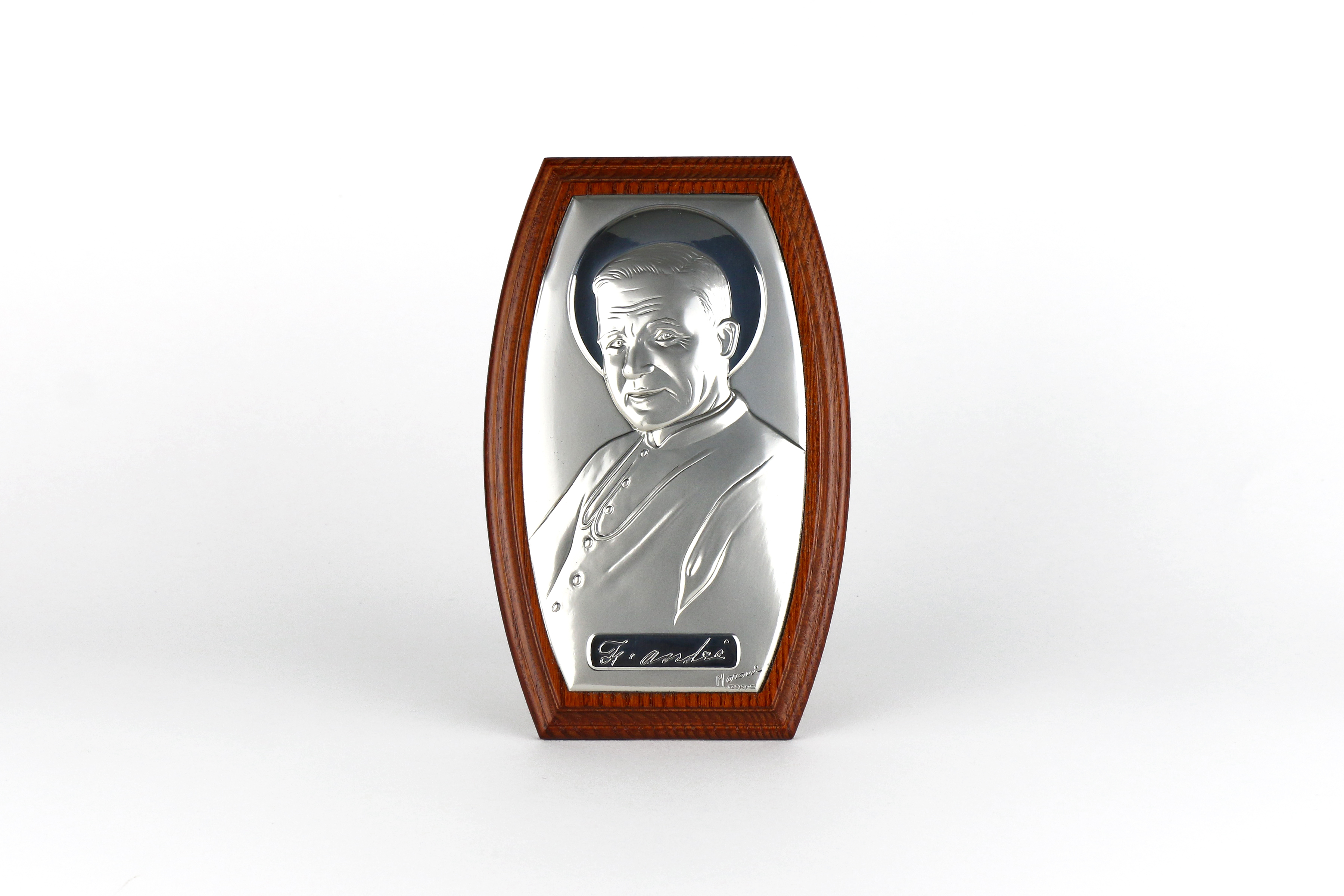 Cadre de saint frère André / Sterling silver frame