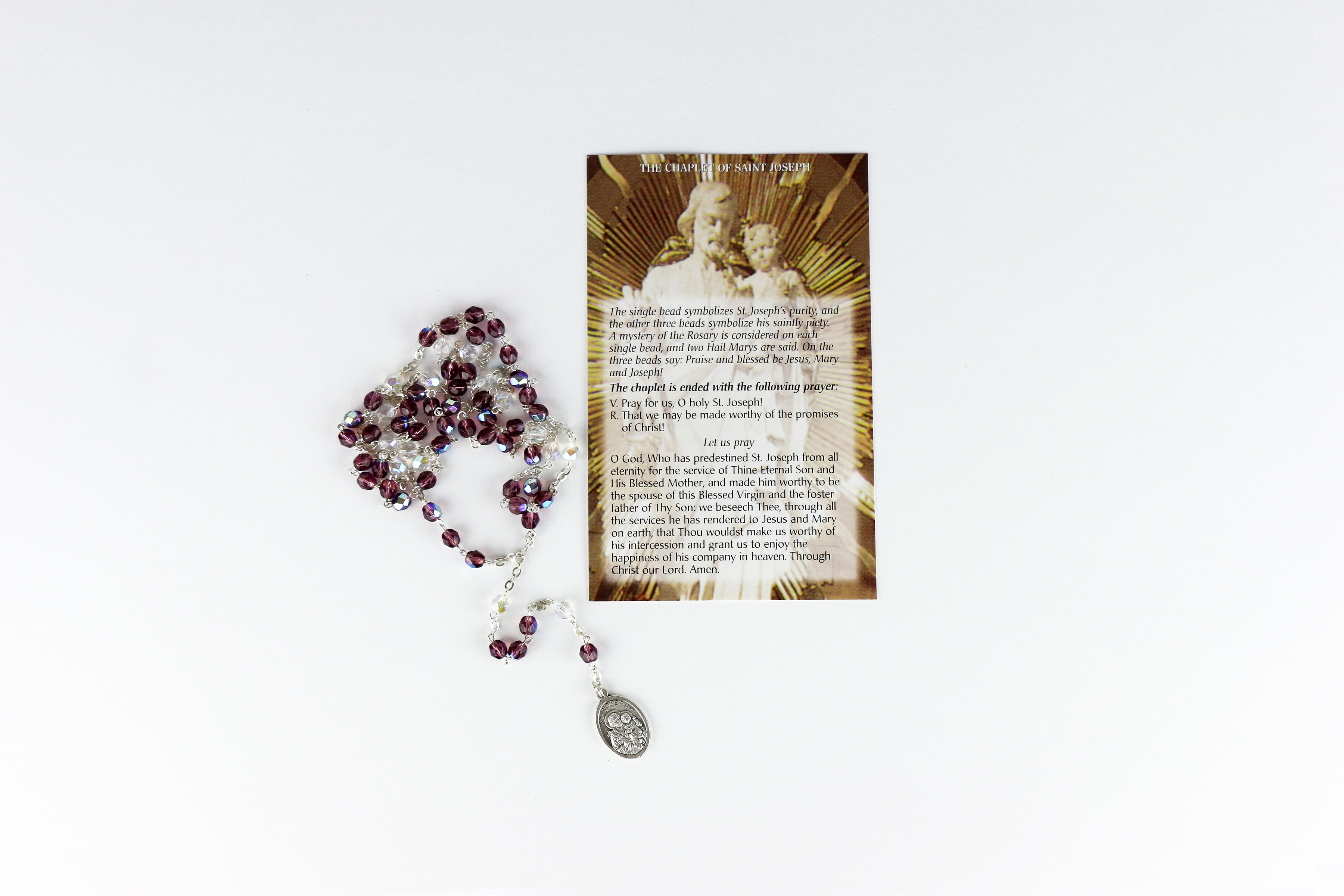 Chapelet et carte de prière / Prayer Card and Rosary