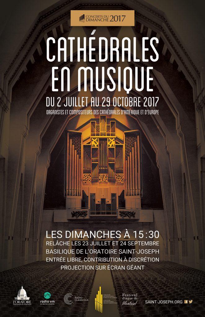Concerts d'orgue - Cathédrales en musique 2017