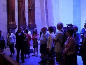 Chantal Turbide et ses invités dans la basilique (Crédit @Héritage Montréal, 2015)