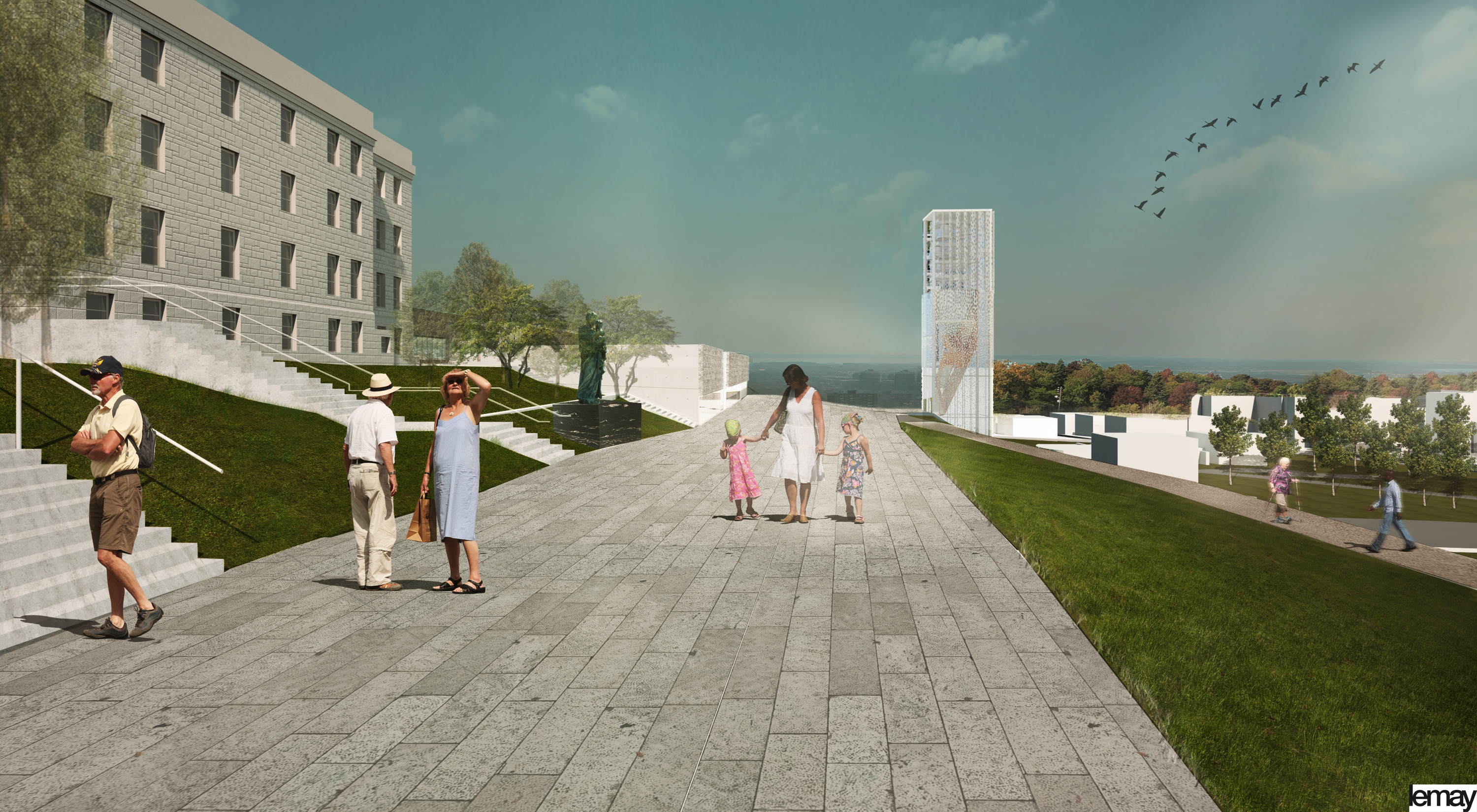 Place de la Sainte-Famille, projet d'aménagement - development project, Holy Family Plaza
