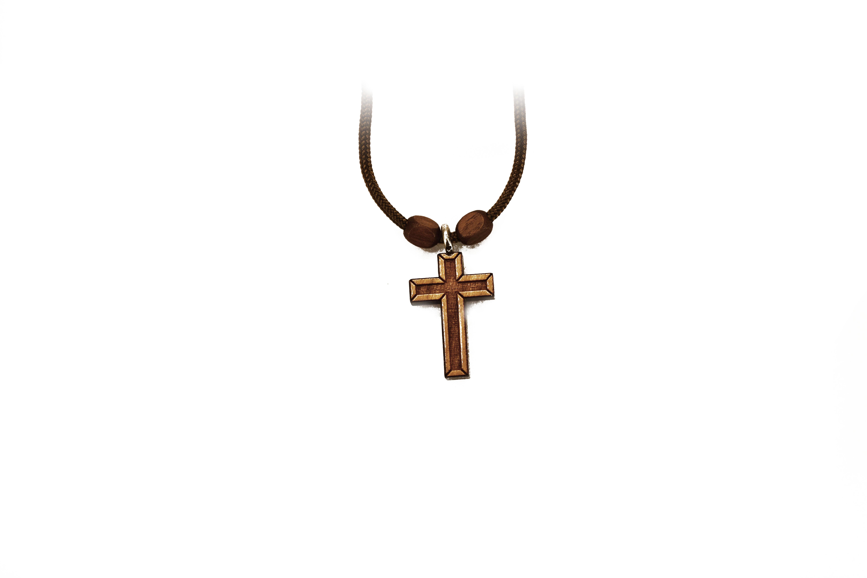 pendentif croix en bois / Wooden Cross Pendant