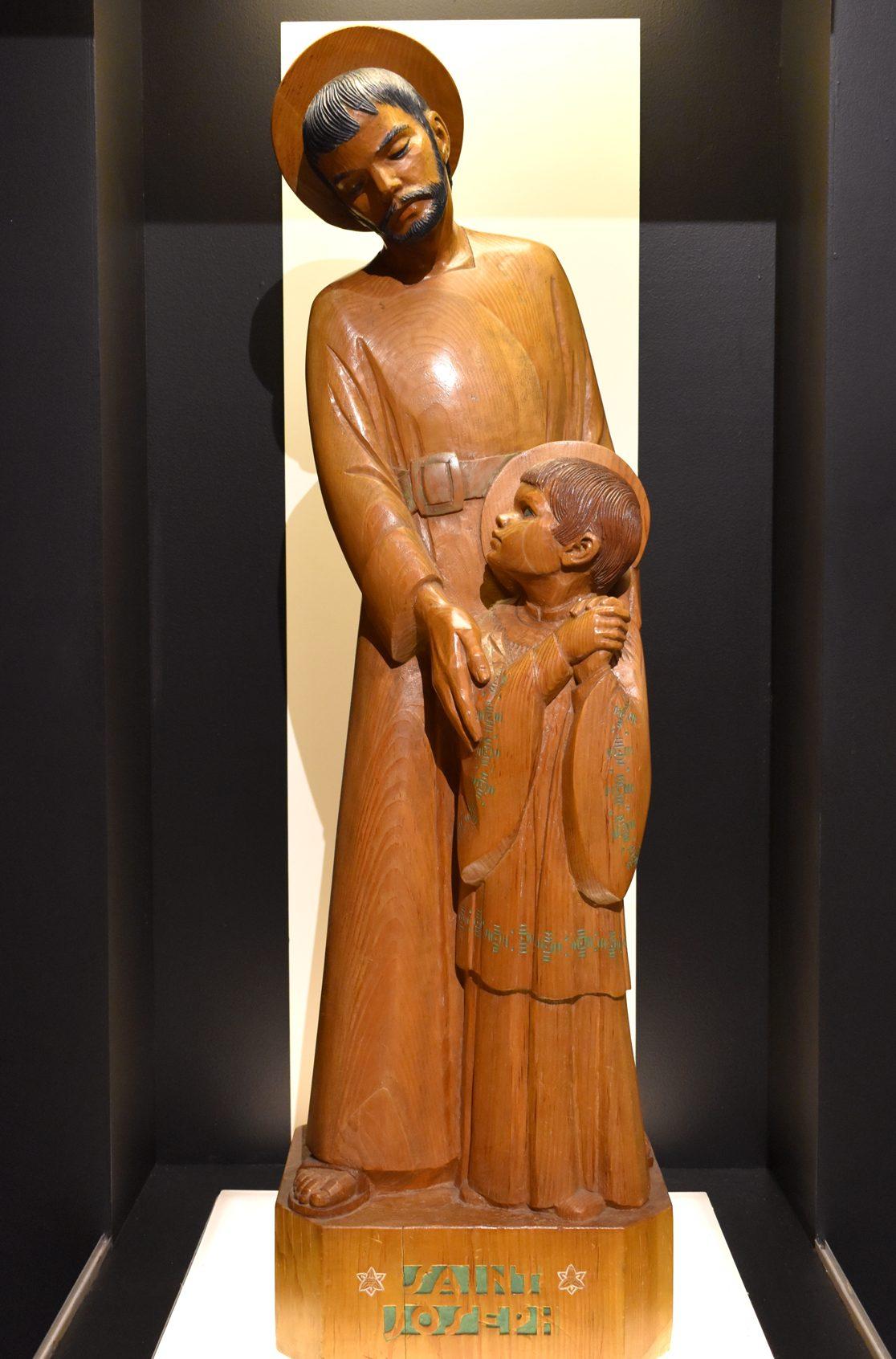 sculpture-Saint-Joseph-et-enfant-Sylvia-Daoust-web