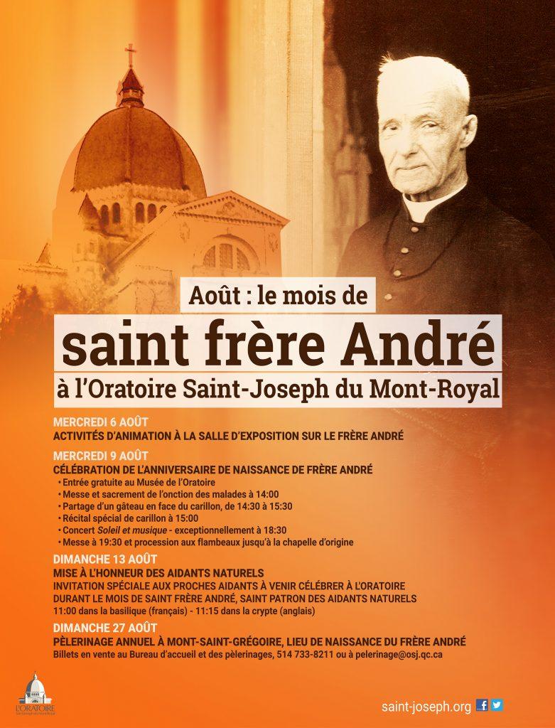 Affiche Mois de saint frère André - Month of Saint Brother André poster