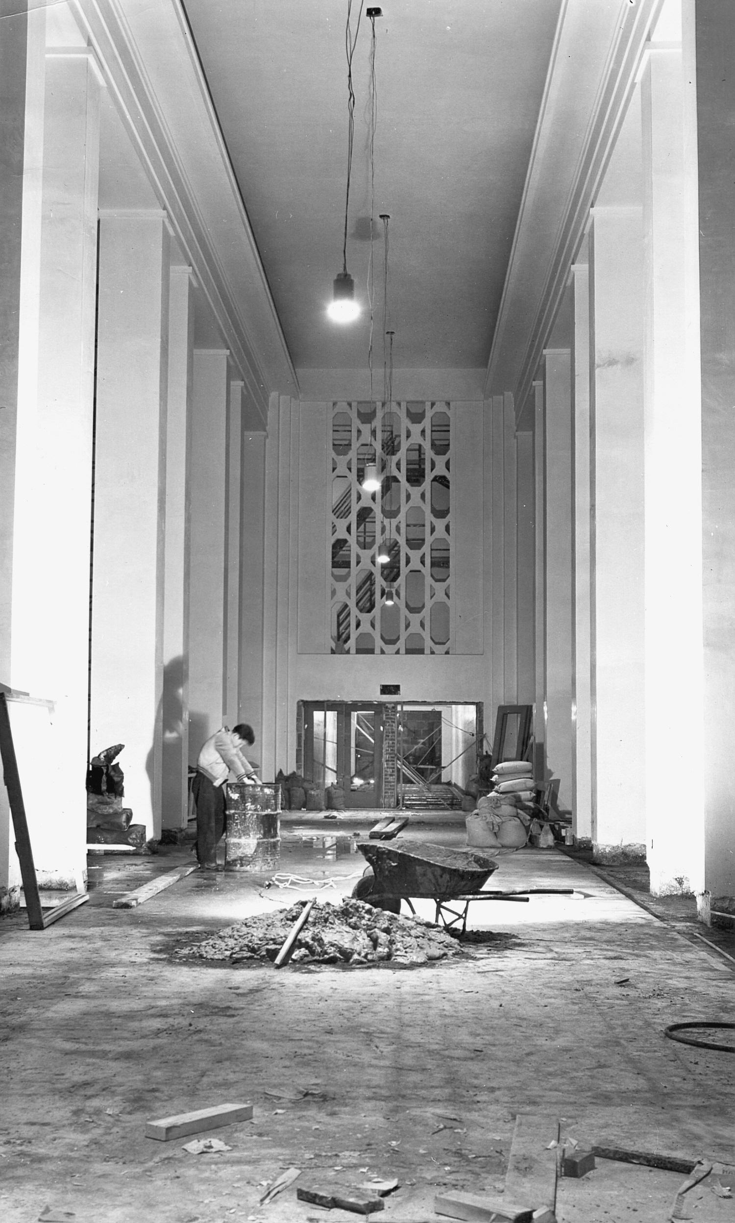Construction chapelle ex-voto 1946-1949