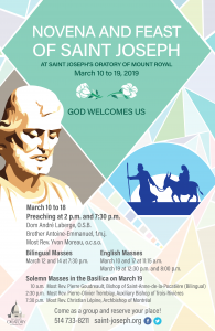 2019 Novena to Saint Joseph
