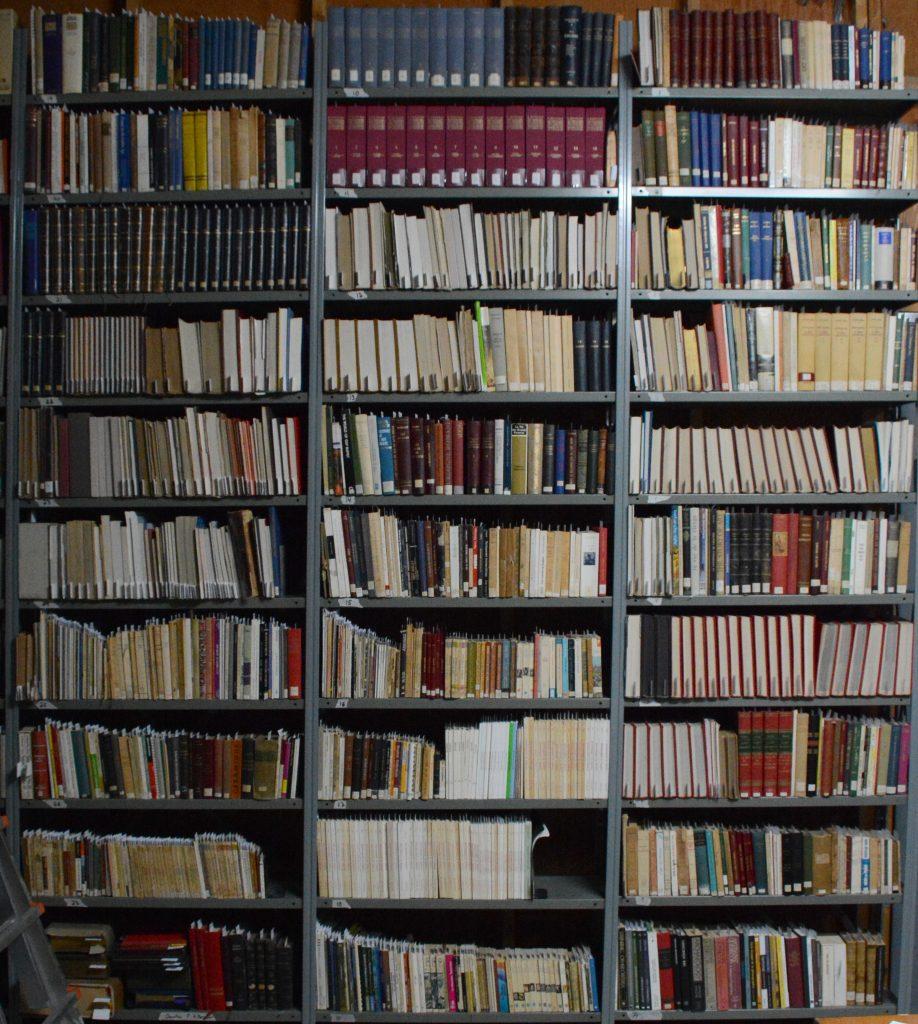 Installation temporaire de la bibliothèque du Musée de l'Oratoire