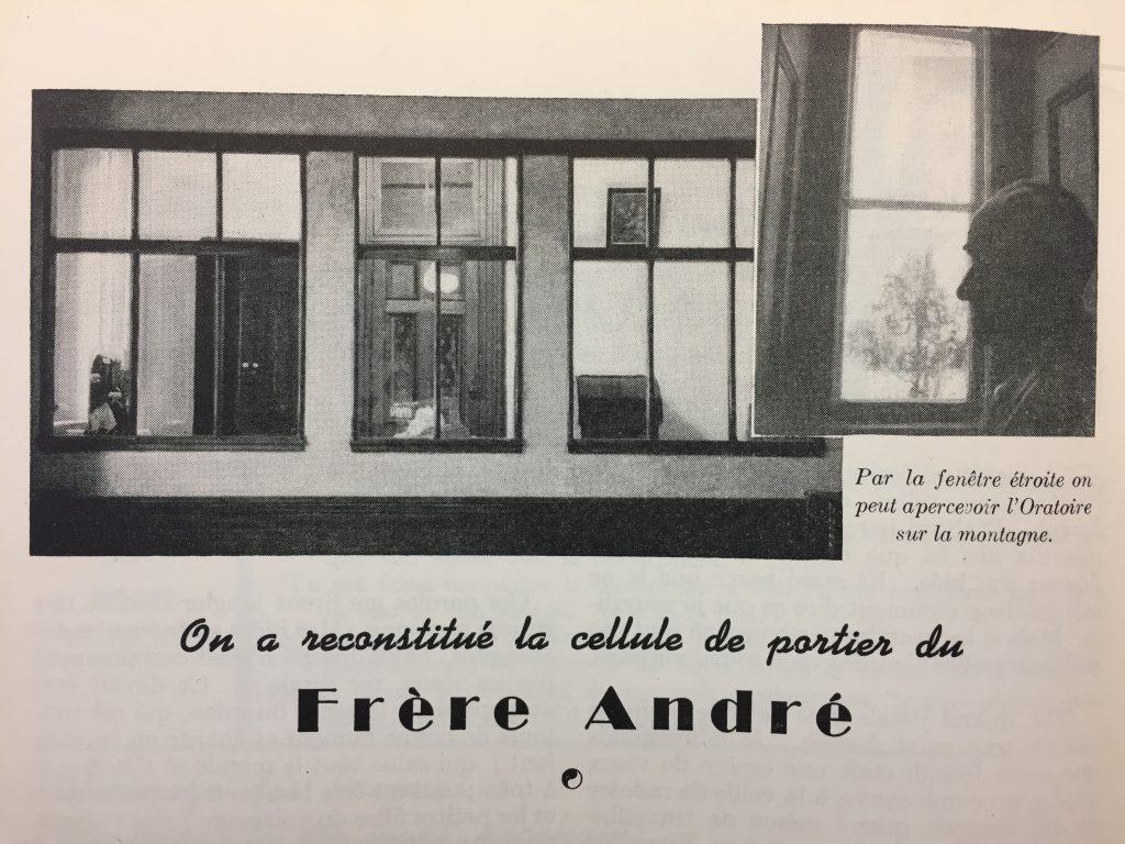 Reconstitution de la loge du frère André